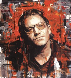 Rock Star - Bono (Deluxe Box Canvas) by Zinsky - Limited Edition on Canvas sized 22x24 inches. Available from Whitewall Galleries